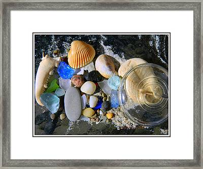 Pieces Of Happy Memories Framed Print by Kathy Barney