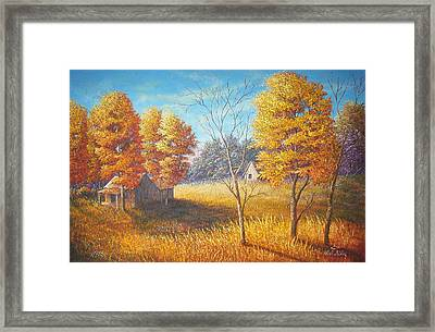 Framed Print featuring the painting Memories by Loxi Sibley