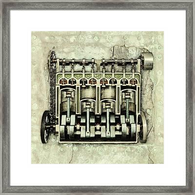 Memories Of A Classic Car I Framed Print by Martin Bergsma