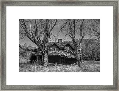 Memories Of Ages Past B W Framed Print by HH Photography of Florida