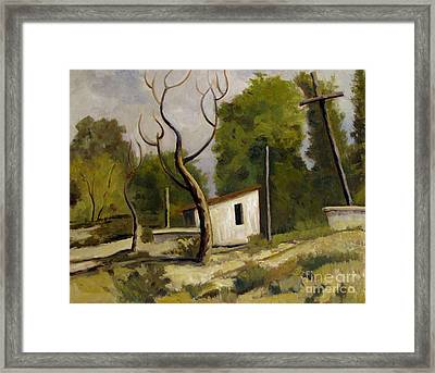Memories Of Canyon Road Santa Fe Framed Print by Charlie Spear