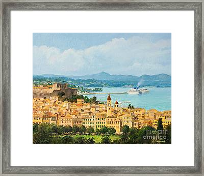 Memories Of Corfu Framed Print by Kiril Stanchev