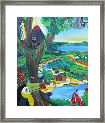 Memories Of Costa Rica Framed Print by Kelly Simpson