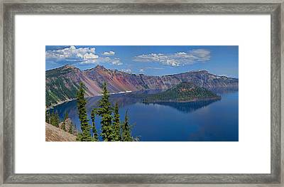 Memories Of Crater Lake Framed Print