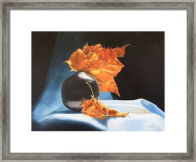 Memories Of Fall - Oil Painting Framed Print