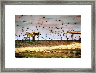 Memories Of Frisco Pier - Outer Banks II Framed Print