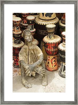 Memories Of Ghana Framed Print by Michele Burgess