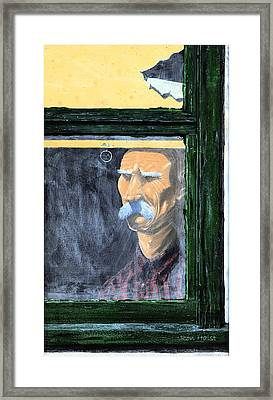 Framed Print featuring the painting Memories Of Grandfather by Ron Haist