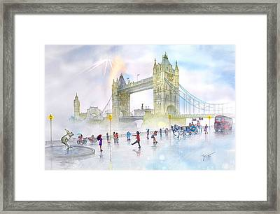 Memories Of London Bridge England Framed Print by John YATO