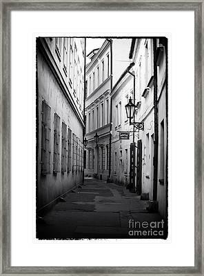 Memories Of Prague Framed Print by John Rizzuto
