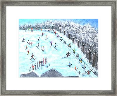 Memories Of Skiing Framed Print by Rita Brown