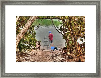 Memories Of The Fishing Hole Framed Print by Ric Potvin