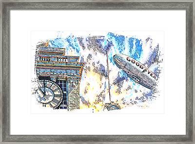 Memories Of The Hindenburg Framed Print by Ken Evans