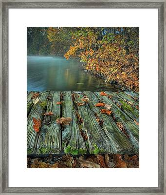 Memories Of The Lake Framed Print by Jaki Miller