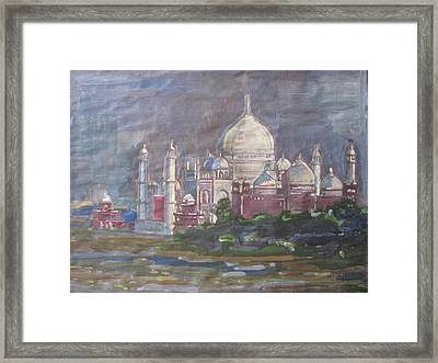 Framed Print featuring the painting Memories Of The Taj by Vikram Singh
