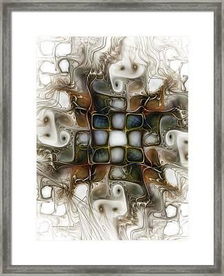 Memory Boxes-fractal Art Framed Print by Karin Kuhlmann