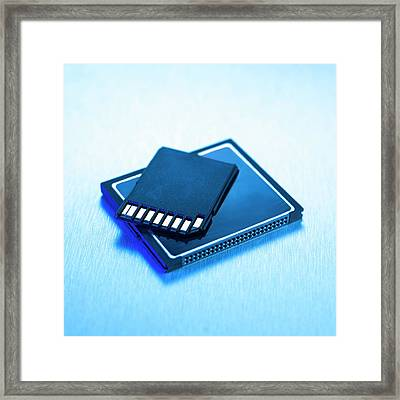 Memory Card Framed Print by Science Photo Library