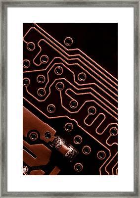 Memory Chip Framed Print by Bob Orsillo