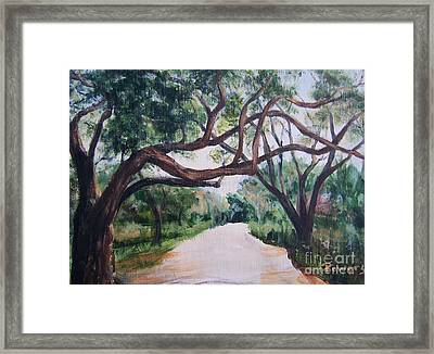 Memory Lane Framed Print by Mary Lynne Powers