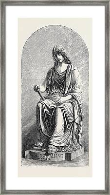 Memory Marble Statue Framed Print