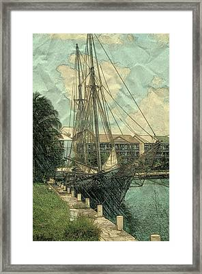 Memory Of A Ship Framed Print