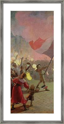 Memory Of The National Festival Framed Print by Hippolyte Berteaux