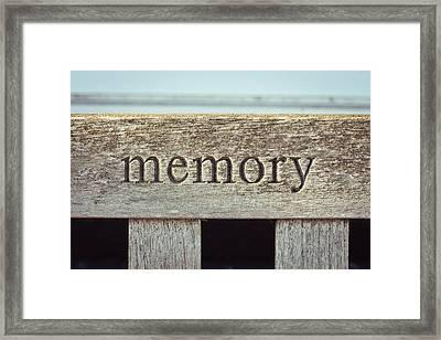Memory Framed Print by Tom Gowanlock