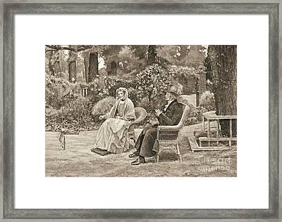 Memory's Garden 1911 Framed Print by Padre Art