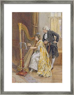 Memorys Melody Framed Print by George Goodwin Kilburne