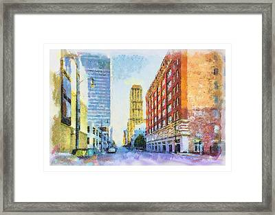 Memphis City Street Framed Print