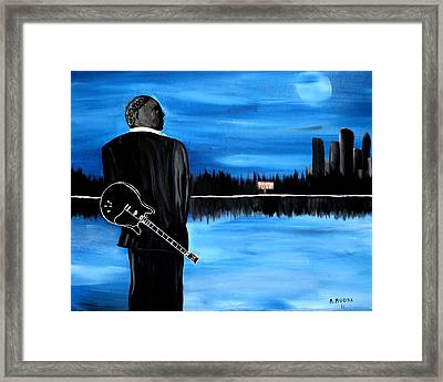Memphis Dream With B B King Framed Print by Mark Moore