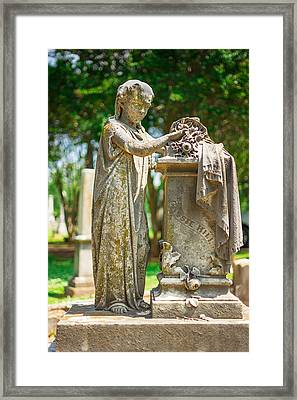 Memphis Elmwood Cemetery Monument - Cassie Hill Framed Print by Jon Woodhams