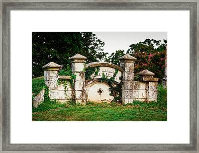 Memphis Elmwood Cemetery - Ayres Family Vault Framed Print by Jon Woodhams