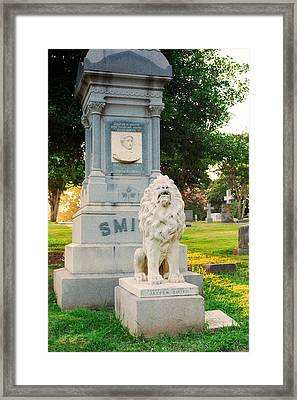 Memphis Elmwood Cemetery - Guarding Jasper Framed Print by Jon Woodhams