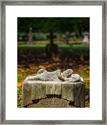 Memphis Elmwood Cemetery Monument - Adelma Framed Print by Jon Woodhams