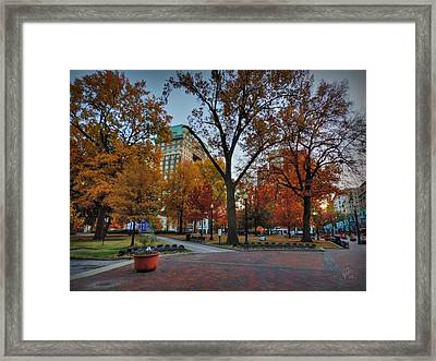 Memphis Fall In Court Square 004 Framed Print