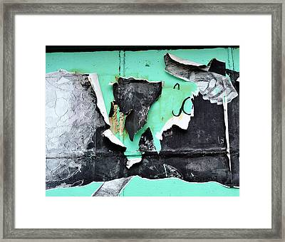 Memphis Found Art Green Good On Ya Framed Print by Steve Archbold