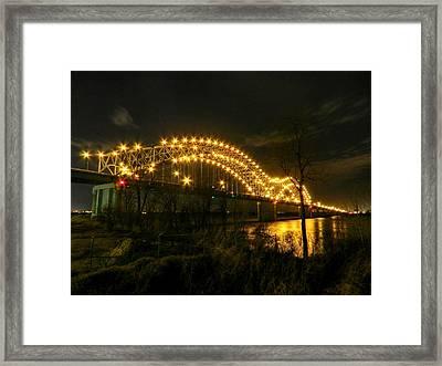 Memphis - Hernando De Soto Bridge 003 Framed Print