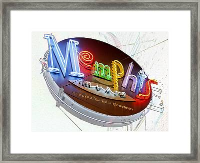 Memphis Sign Framed Print