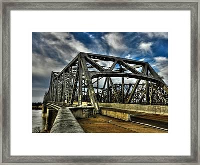 Memphis - Memphis And Arkansas Bridge 002 Framed Print