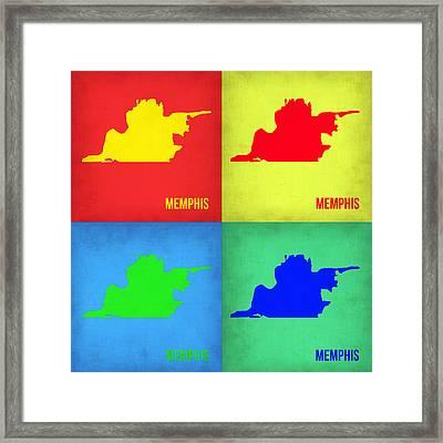 Memphis Pop Art Map 1 Framed Print