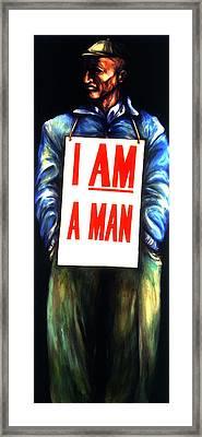Memphis Sanitation Framed Print by Cardell Walker