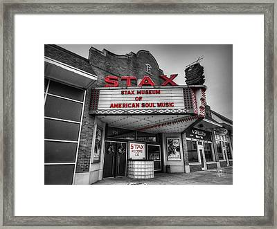 Memphis - Stax Records 001 Ck Framed Print by Lance Vaughn