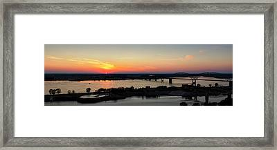 Memphis Sunset On The Mississippi 002 Framed Print by Lance Vaughn