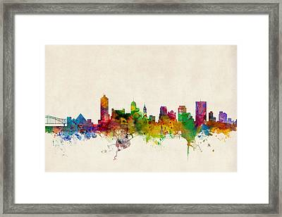 Memphis Tennessee Skyline Framed Print by Michael Tompsett