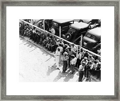 Memphis Unemployed, 1938 Framed Print by Granger