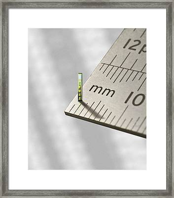 Mems Chip, Artwork Framed Print by Science Photo Library