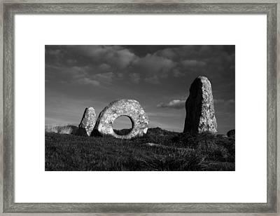 Men An Tol Ancient Monument Framed Print