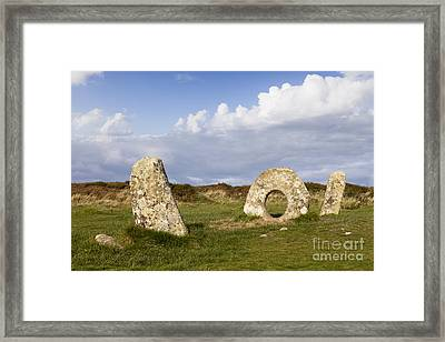 Men-an-tol Cornwall Framed Print by Colin and Linda McKie
