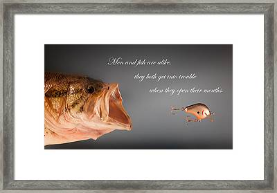 Men And Fish Framed Print by Bill Wakeley